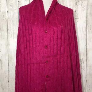 NWT Lularoe Raspberry Pink Mimi Cable Knit Shawl